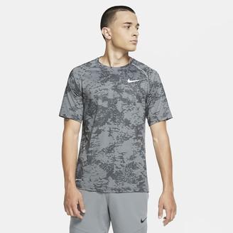 Nike Men's Camo Short-Sleeve Top Pro