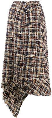Lanvin Tweed Asymmetric Skirt