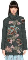 Antonio Marras Embroidered & Intarsia Knit Turtleneck