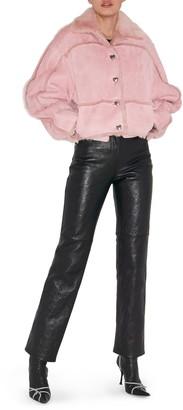 Saks Potts Kahlo Genuine Shearling Crop Jacket