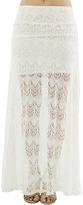 Arden B Crochet Lace Maxi Skirt