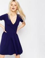 Asos Ballet Wrap Skater Mini Dress