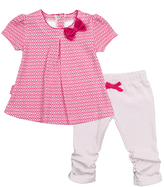 Kushies Fuchsia I Love Spring Dress & Leggings - Infant