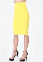 Bebe Knit Midi Skirt