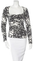Versace Silk Abstract Print Top
