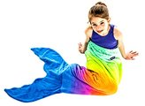 The Original Blankie Tails Mermaid Tail Blanket (Youth Size) (Rainbow Ombre - New!)