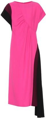 Dries Van Noten Colorblocked midi dress