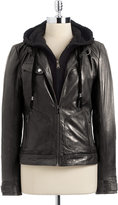 Marc New York Leather Two-Fer Jacket