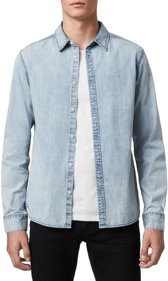 AllSaints Darton Chambray Button-Up Shirt