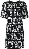 Moschino letter print dress - women - Polyester/other fibers - 38