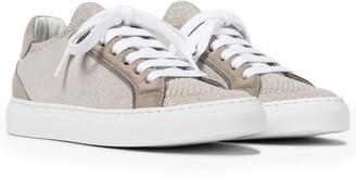 Brunello Cucinelli Classic suede-trimmed sneakers