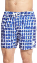 NATIVE YOUTH Check Print Swim Trunks