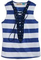 Vintage Havana Girls' Striped Lace-Up Tank - Big Kid