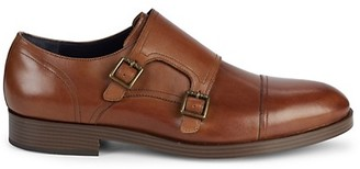 Cole Haan Henry Grand Leather Monk Strap Dress Shoes