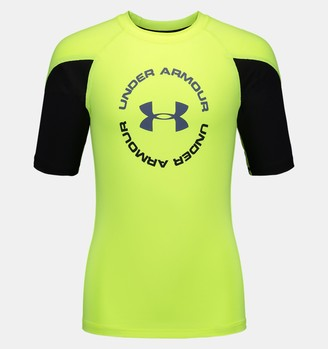 Under Armour Boys' UA H2O Reveal Rashguard Short Sleeve