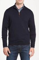 Nordstrom Men's Half Zip Cotton & Cashmere Pullover