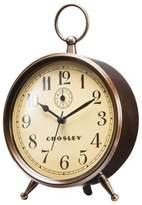 Crosley Analog Alarm Clock Antique Bronze