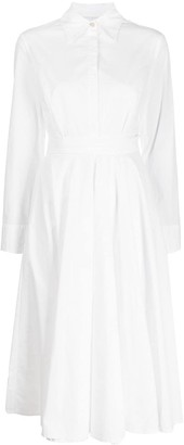 Erika Cavallini Poplin Flared Dress