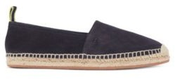 HUGO BOSS Slip-on espadrilles in suede with monogram outsole