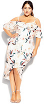 City Chic Sweet Orchid Dress - ivory