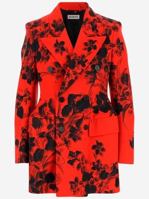 Balenciaga Floral Jacquard Blazer
