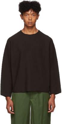 Issey Miyake Homme Plisse Brown Rustic Three-Quarter Sleeve T-Shirt