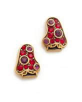 Marc Jacobs Strass Mushroom Stud Earrings