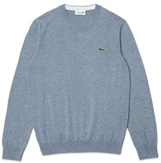 Lacoste Cotton Crew Knit Ah 1985 Sky Marl - 3/Small