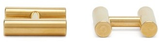 Alice Made This - Kitson H-shaped Brass Cufflinks - Gold