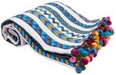 Karma Living Chevron Woven Blanket - 50 x 60 - Blue
