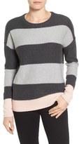 Caslon Contrast Cuff Crewneck Sweater (Regular & Petite)