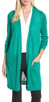 Halogen Petite Women's Long Linen Blend Cardigan