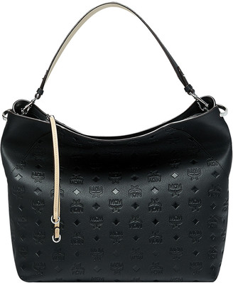 MCM Klara Large Monogrammed Leather Hobo Bag