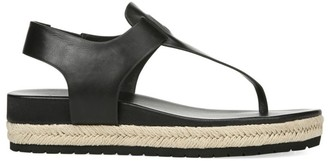 Vince Flint Leather Espadrille Thong Sandals