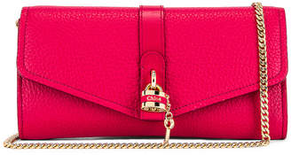 Chloé Aby Wallet on Chain Bag in Crimson Pink | FWRD