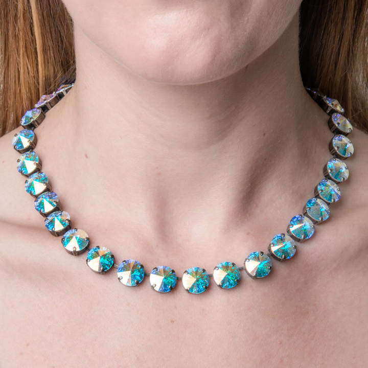Iscah and Mimi Round Crystal Statement Necklace