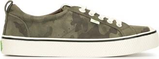 Cariuma OCA Low Stripe Camouflage Suede Sneaker