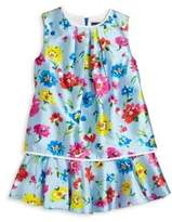 Oscar de la Renta Toddler's & Little Girl's Scattered Flower Print Dress