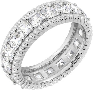 Judith Ripka Sterling Silver 4.65 cttw Eternity Band Ring