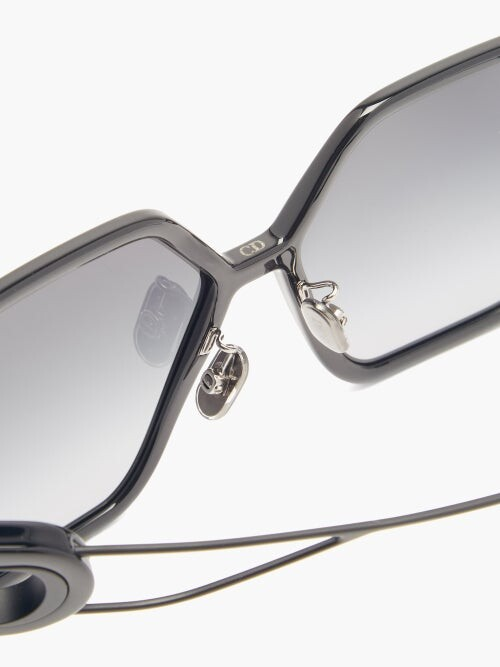 Thumbnail for your product : Christian Dior 30montaigne Butterfly Acetate Sunglasses - Black Grey