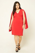 Forever 21 FOREVER 21+ Plus Size Cape-Sleeve Dress