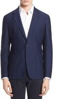Armani Collezioni Men's Trim Fit Textured Stretch Knit Sport Coat