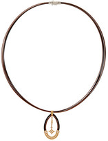 Alor 18K Gold & Diamond Pendant Two-Tone Stainless Steel Cord Necklace - 0.23 ctw