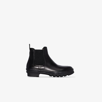 LEGRES black Garden leather boots