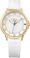 Tommy Hilfiger Gigi Hadid Women's White Silicone Strap Watch 38mm 1781724