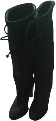 Tila March Black Suede Boots