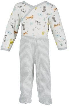 First Impressions Baby Boys 2-Pc. Safari-Print Bodysuit & Pants Set, Created for Macy's