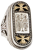 Konstantino Two Tone Etched Signet Ring