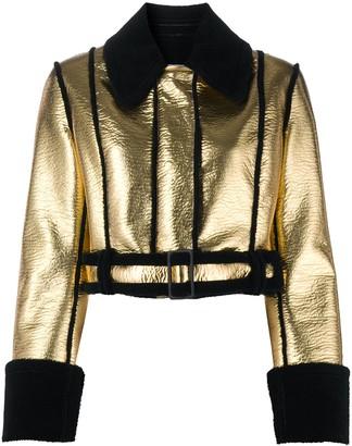 BROGNANO Metallic Faux-Shearling Jacket