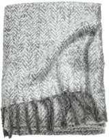 H&M Herringbone Throw - Light gray